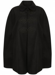 SL1151 Ex Chainstore Lace Embroidered Black Cape x12