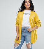 SL1318 Ex Chainstore Fine Knit Fluffy Yarn Cardigan - Yellow x6