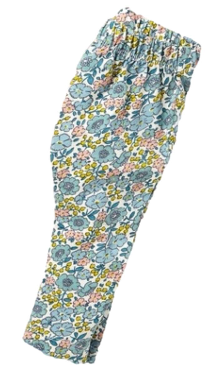 SC514 Ex Chainstore Baby Pastel Floral Pretty Trim Leggings x48