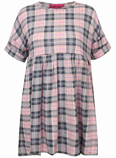 SL1245 Ex Chainstore Pastel Tartan Dress x12