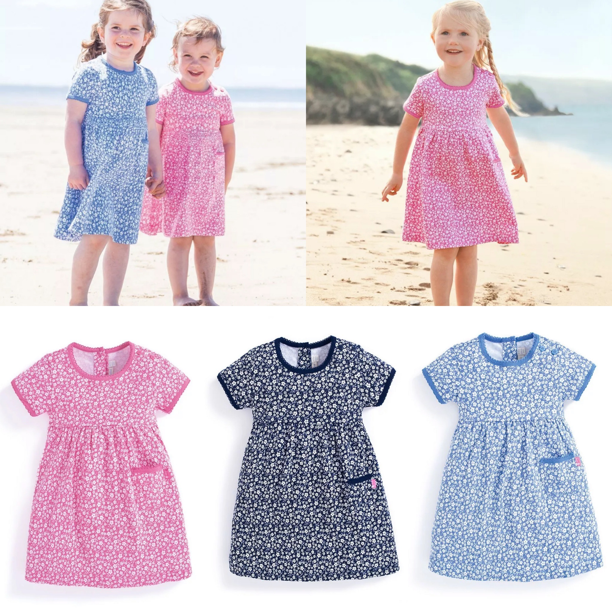 SC267 Ex Chainstore Ditsy Print Pocket Summer Dress x67
