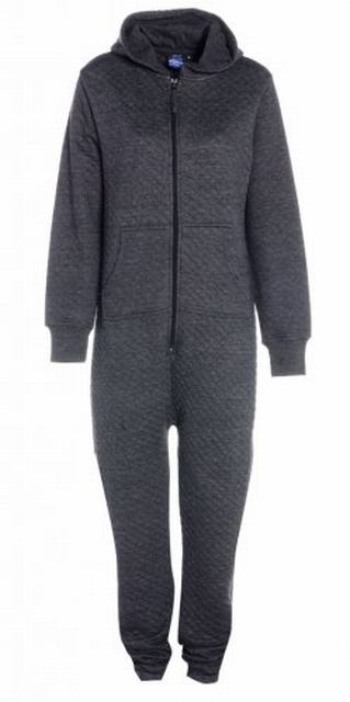 SM013 Ex UK Chainstore Charcoal Quilted Onesie x7