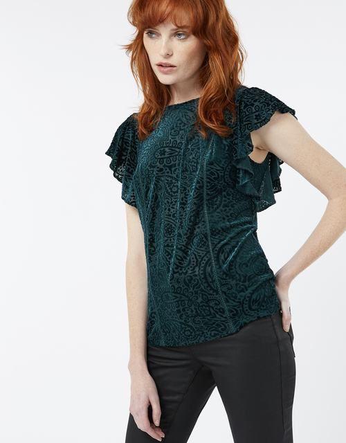 SL1130 Ex UK Chainstore Valentina Velvet Burnout Top (x11)