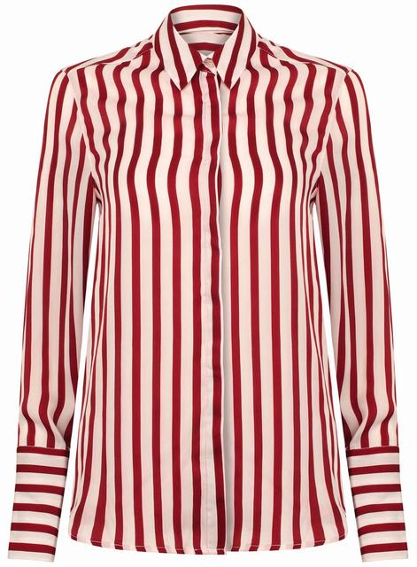 SL1246 Ex Chainstore Tie Sleeve Striped Shirt x12