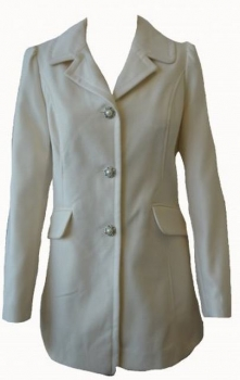 SL083 Ex UK Chainstore Pearl Button Coat - Cream x9