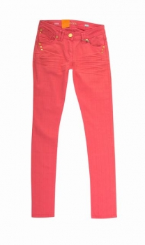 SL775 Ex UK Chainstore Bright Pink Skinny Jeans x9