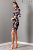 SL1015 Ex Chainstore Floral Printed Satin Ruched Dress x15