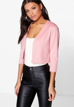 SL1185 Ex Chainstore Katie Crop Ponte Blazer in Rose x12