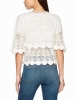 SL1241 Ex Chainstore Crochet Mesh Embroidered Blouse x14
