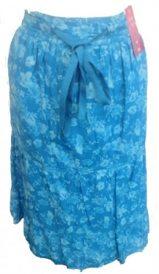 SL018 Ex UK chainstore blue floral skirt x12