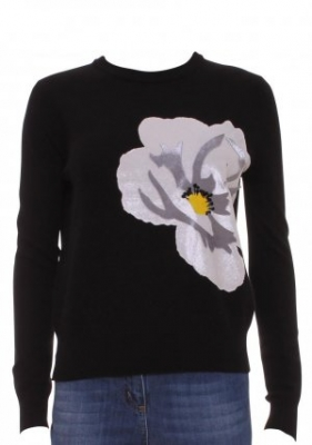 SL197 Ex UK Chainstore Guage Flower Jumper x13