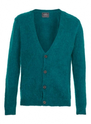 SM019 Ex UK Chainstore Mohair Infused Cardigan - Green x4