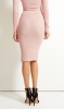 SL348 Ex UK Chainstore Ribbed High Waist Pink Pencil Skirt x12