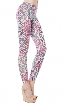 SL508 Ex UK Chainstore Animal Print Leggings x12