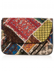 SL529 Ex UK Chainstore Multicolor Patchwork Clutch Bag x10