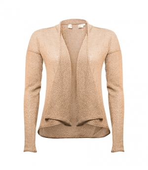 SL598 Ex UK Chainstore Taupe Pointelle Fallaway Cardigan x20