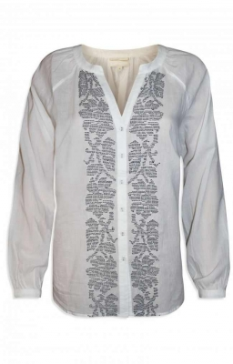 SL645 Ex UK Chainstore Embroidered White Shirt Blouse x9