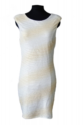 SL669 Ex UK Chainstore Gold Ombre Shimmer Bodycon Dress x7