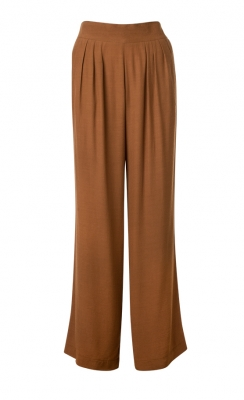 SL695 Ex UK Chainstore Tan High Waist Trouser x12
