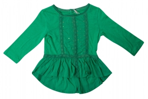 SC054 Ex UK Chainstore Sequin Smock Blouse - Green x18