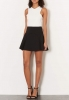 SL729 Ex UK Chainstore Colour Block Bonded Skater Dress x12