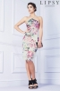 SL761 Ex UK Chainstore Printed Apron Bandeau Dress x15