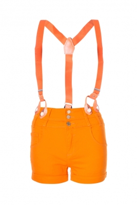 SL769 Ex UK Chainstore Orange Shorts With Braces x9