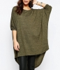 SL807 Ex UK Chainstore Oversized Batwing Jumper - Khaki x20