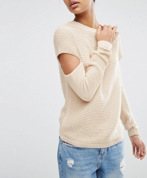 SL819 Ex Chainstore Ripple Stitch Jumper With Slash Sleeves x12