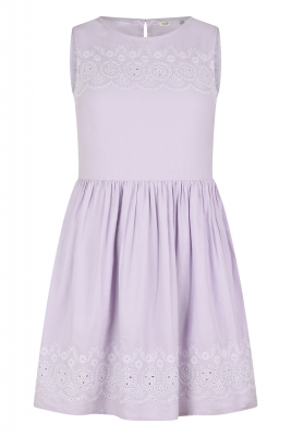 SL825 Ex UK Chainstore Ryarsh Embroidered Dress - Lilac x12