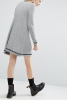 SL847 Ex UK Chainstore Grey Swing Dress With Tipping x12