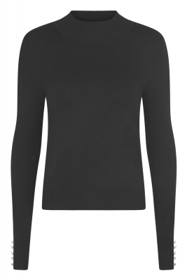 SL858 Ex UK Chainstore High Neck Sleeve Button Detail Jumper x10