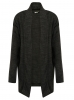 SC062 Ex UK Chainstore Girls Charcoal Open Front Knit Cardi x12