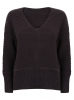 SL866 Ex UK Chainstore Oversized V Neck Fluffy Jumper Navy x12