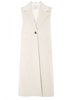 SL909 Ex UK Chainstore  Brushed Sleeveless Jacket - Blonde x15