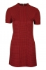 SL913 Ex UK Chainstore High Neck Textured Spot Shift Dress x12