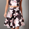 SL941 Ex UK Chainstore Floral Print Flared Skirt x17