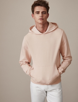 SM054 Ex Chainstore Garment Dyed Hoodie - Soft Pink x10