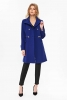 SL1138 Ex Chainstore Blue Zip Waisted Funnel Neck Coat x12