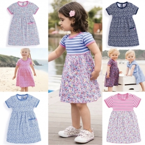 SC155 Ex Chainstore Girls Assorted Pretty Floral Dresses x100